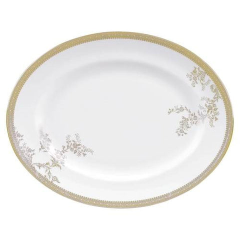 Wedgwood Vera Wang Lace Gold Oval Dish 35cm