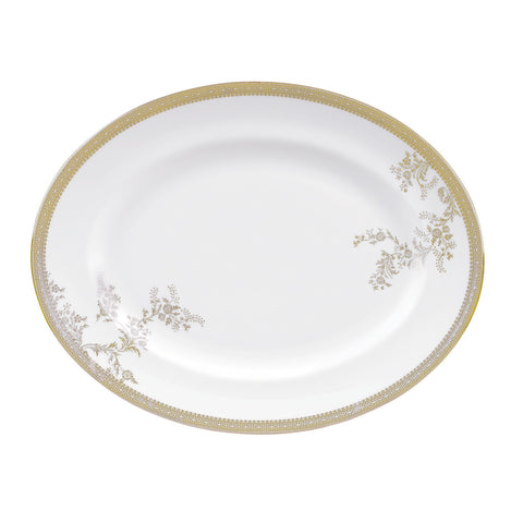 Wedgwood Vera Wang Lace Gold Oval Dish 39cm