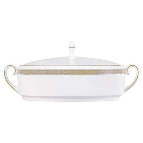 Wedgwood Vera Wang Lace Gold Vegetable Dish