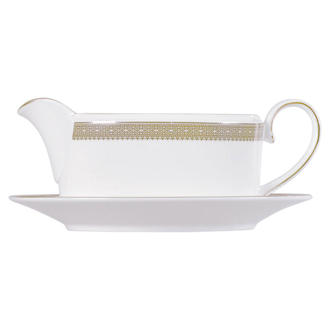 Wedgwood Vera Wang Lace Gold Sauceboat (Sauce Boat Only)