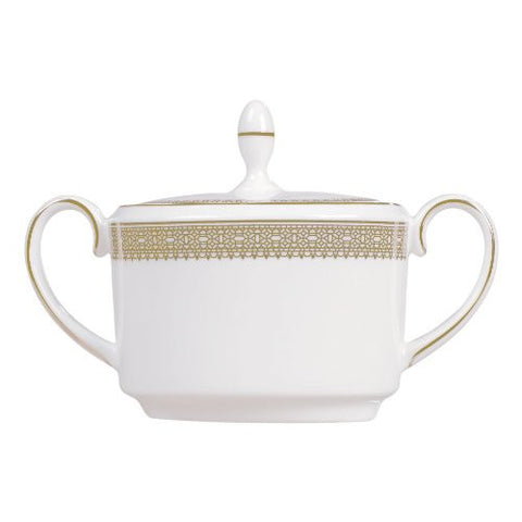 Wedgwood Vera Wang Lace Gold Sugar Bowl