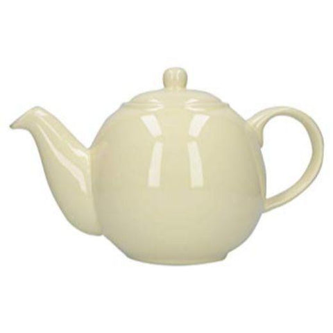 London Pottery Globe 6 Cup Ivory Teapot