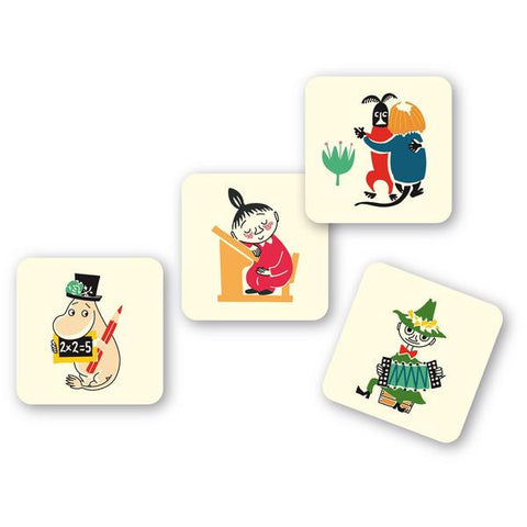Moomin 50s pattern Coasters 9cm (Set of 4)