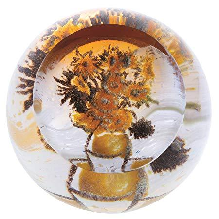 Caithness Glass Artistic Impressions Sunflowers Paperweight