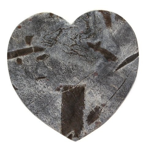 Just Slate Silver Heart Server 26cm by 26cm