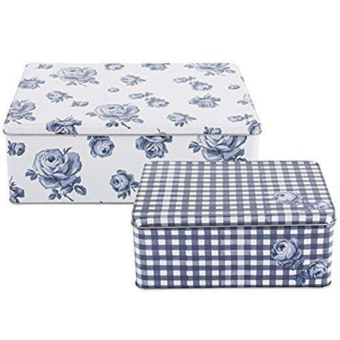 Katie Alice Vintage Indigo Rectangular Cake Tin Set of 2