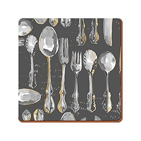 Cutlery Coasters 10.5cm by 10.5cm (Set of 6)