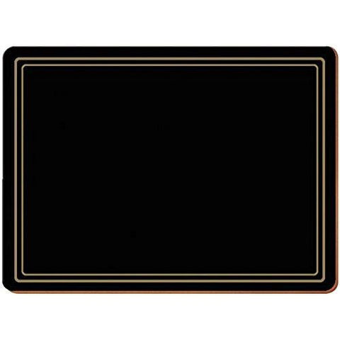 Classic Black Large Placemats 40cm by 29cm (Set of 4)