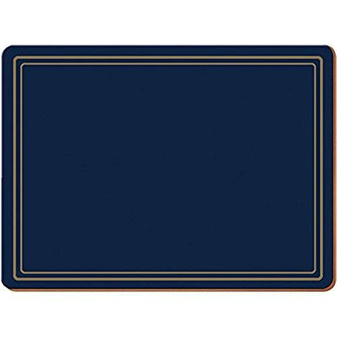 Classic Navy Large Placemats 40cm by 29cm (Set of 4)