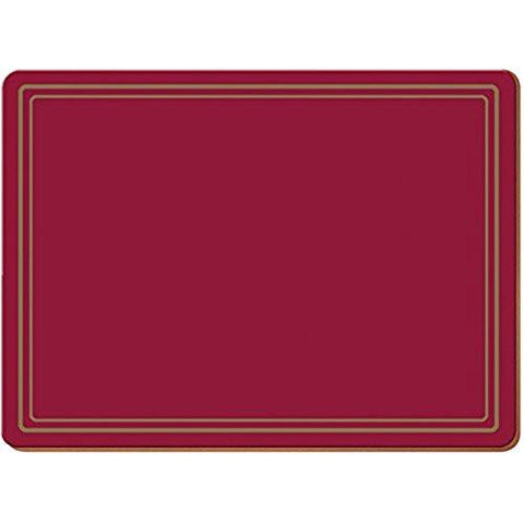 Classic Red Large Placemats 40cm by 29cm (Set of 4)