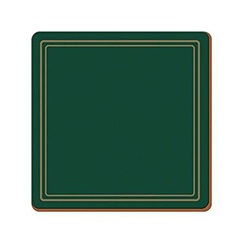 Classic Green Large Coasters 10.5cm by 10.5cm (Set of 6)