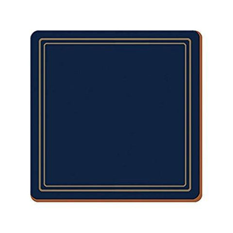 Classic Navy Large Coasters 10.5cm by 10.5cm (Set of 6)