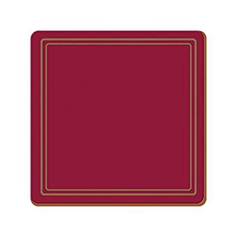 Classic Red Coasters 10.5cm by 10.5cm (Set of 6)