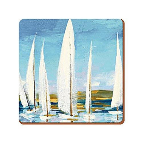 Sailing Boats Coasters 10.5cm by 10.5cm (Set of 4)