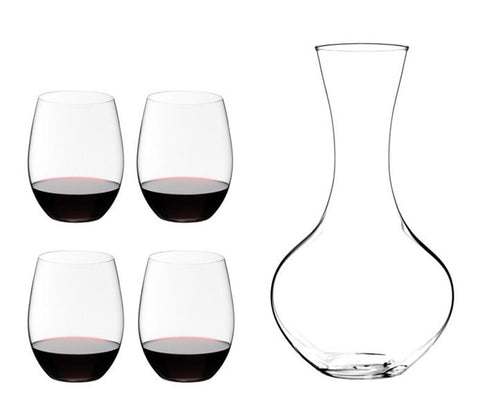 Riedel O Set of 4 Cabernet Glass with Free Decanter