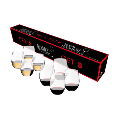 "Riedel ""O"" 4 x Cabernet Glasses and 4 x Voigner Glasses"