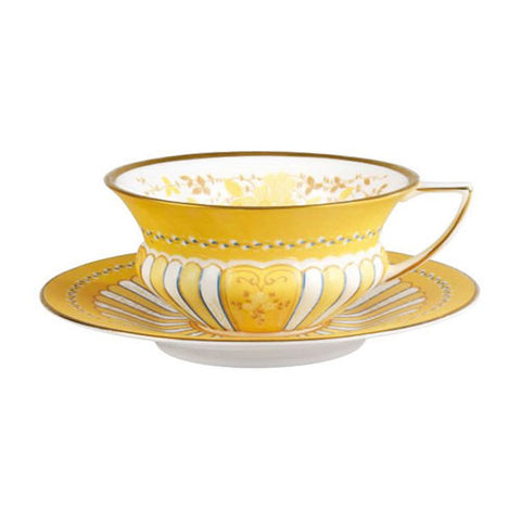 Wedgwood Yellow Ribbons Cup and Saucer Set