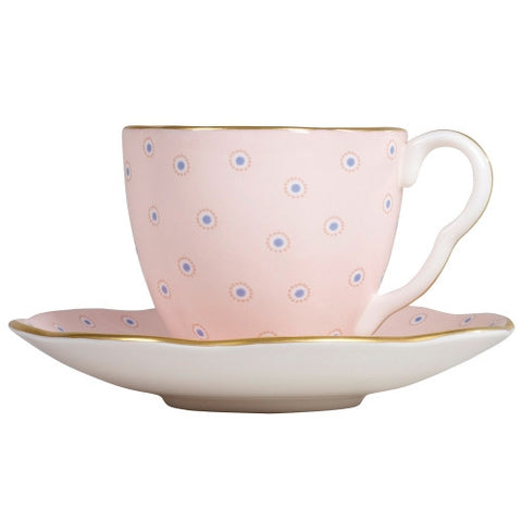 Wedgwood Polka Dot Tea Story Pink Coffee Cup and Saucer 0.09L