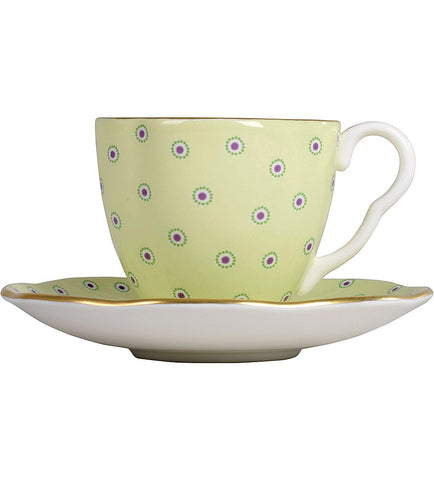 Wedgwood Polka Dot Tea Story Green Coffee Cup and Saucer 0.09L