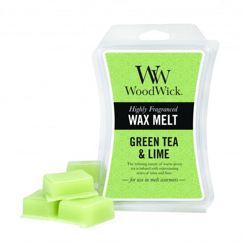 WoodWick Green Tea and Lime Mini Wax Melt