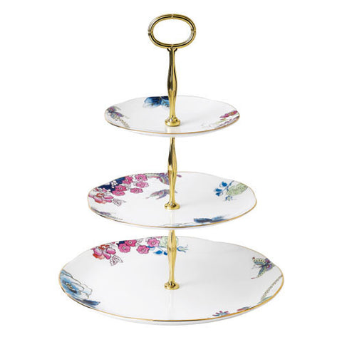 Wedgwood Butterfly Bloom 3 Tier Cake Stand