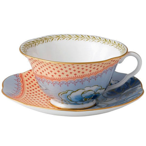 Wedgwood Butterfly Bloom Peony Teacup and Saucer