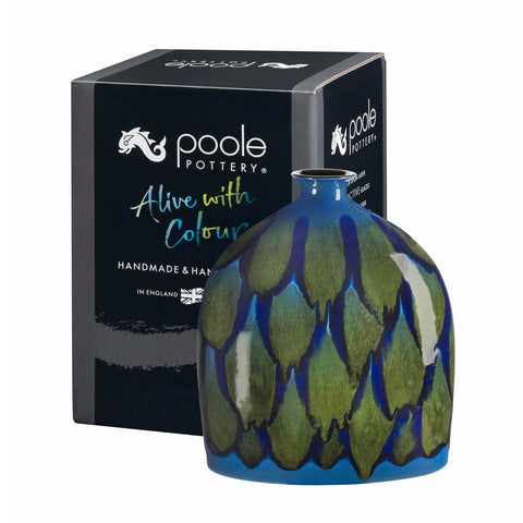 Poole Pottery Alexis Oval Bottle Vase 28cm