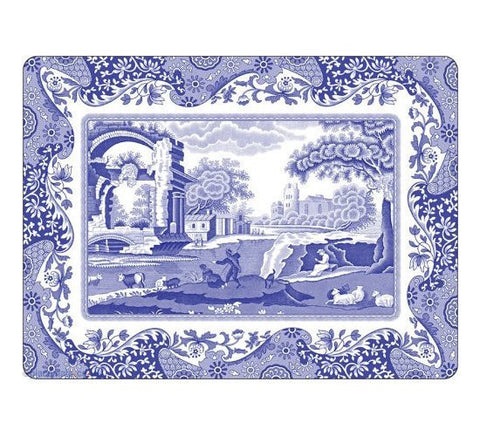 Spode Blue Italian Placemats 30.5cm by 23cm (Set of 6)