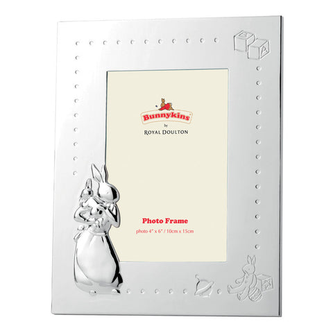 Royal Doulton Bunnykins Silver Gift Frame 15cm by 10cm
