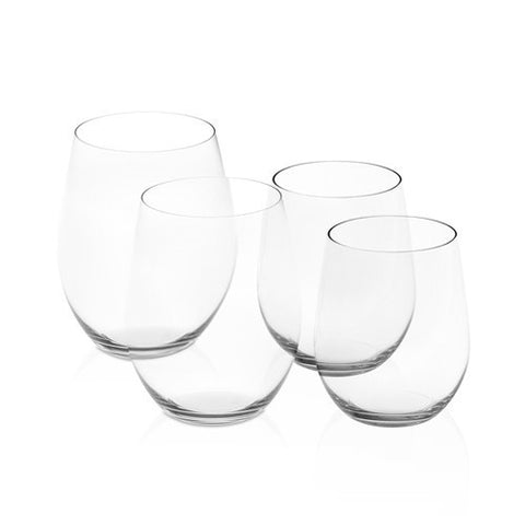 Riedel O Set of 2 Cabernet and Set of 2 Viogner Wine Tumblers
