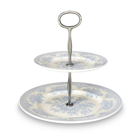 Burleigh Blue Asiatic Pheasant 2 Tier Cake Stand