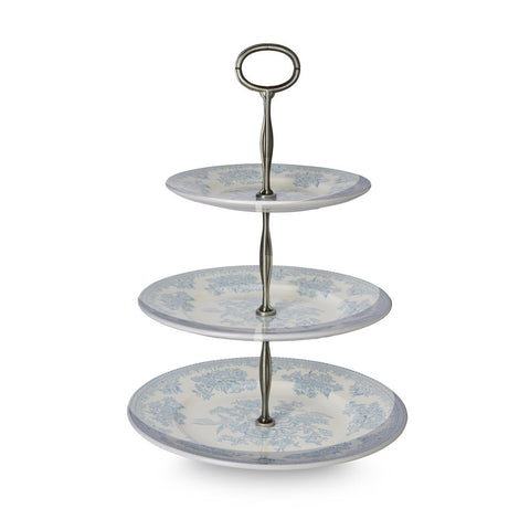Burleigh Blue Asiatic Pheasant 3 Tier Cake Stand