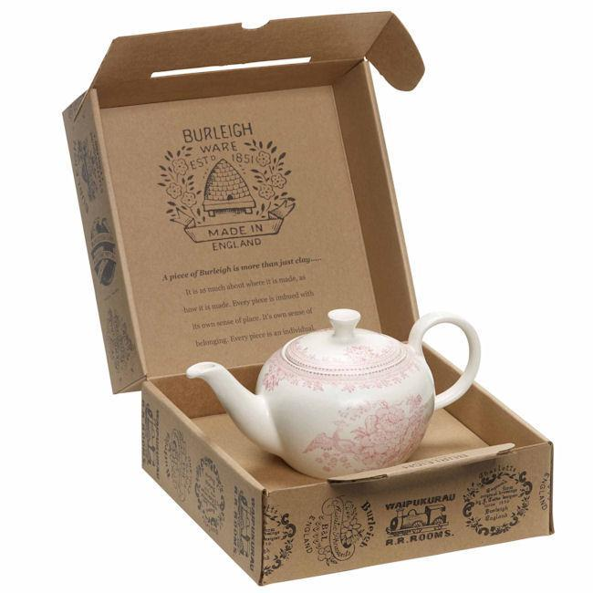 Burleigh Pink Asiatic Pheasants Small Teapot (Gift Box)