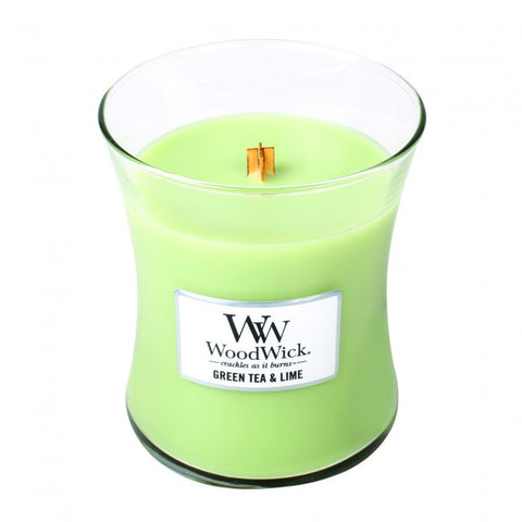 WoodWick Green Tea and Lime Medium Jar Medium Candle