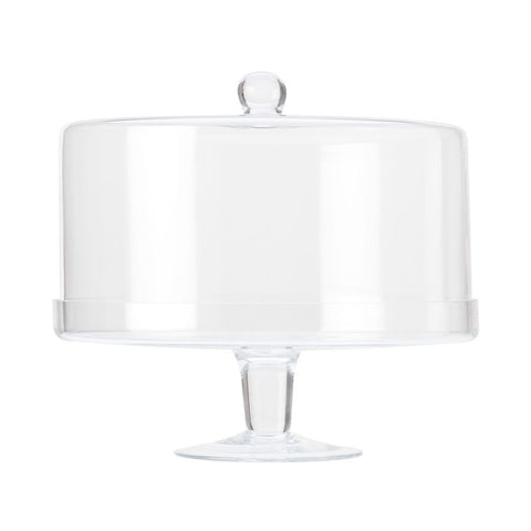 Maxwell and Williams Diamante Cake Stand with Straight Dome 30cm