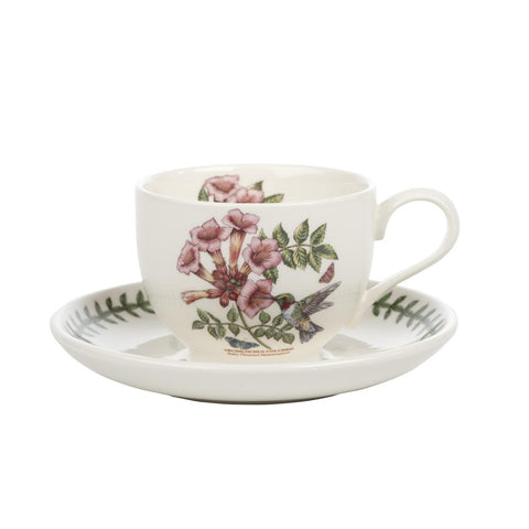 Portmeirion Botanic Garden Birds Teacup and Saucer 0.20L