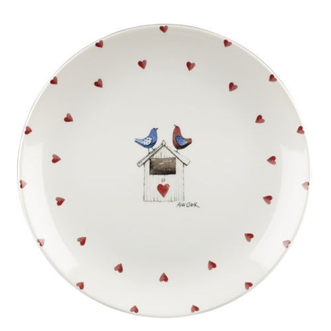 Alex Clark Lovebirds Hearts Dinner Plate 26cm