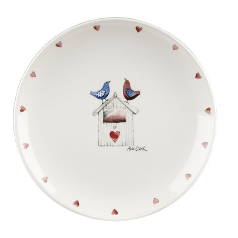 Alex Clark Lovebirds Hearts Salad Plate 20cm