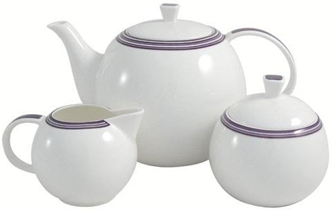 Aynsley China Sorrento Teapot, Creamer and Sugar Bowl Set