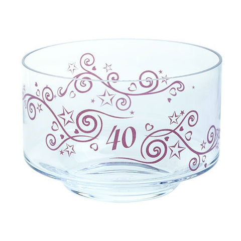 Dartington Crystal  Celebrate 40 Years Bowl 20cm by 13cm