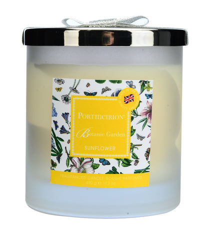 Portmeirion Botanic Garden Fragrance Sunflower 2 Wick Glass Candle