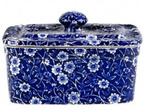 Burleigh Blue Calico Butter Dish 400g