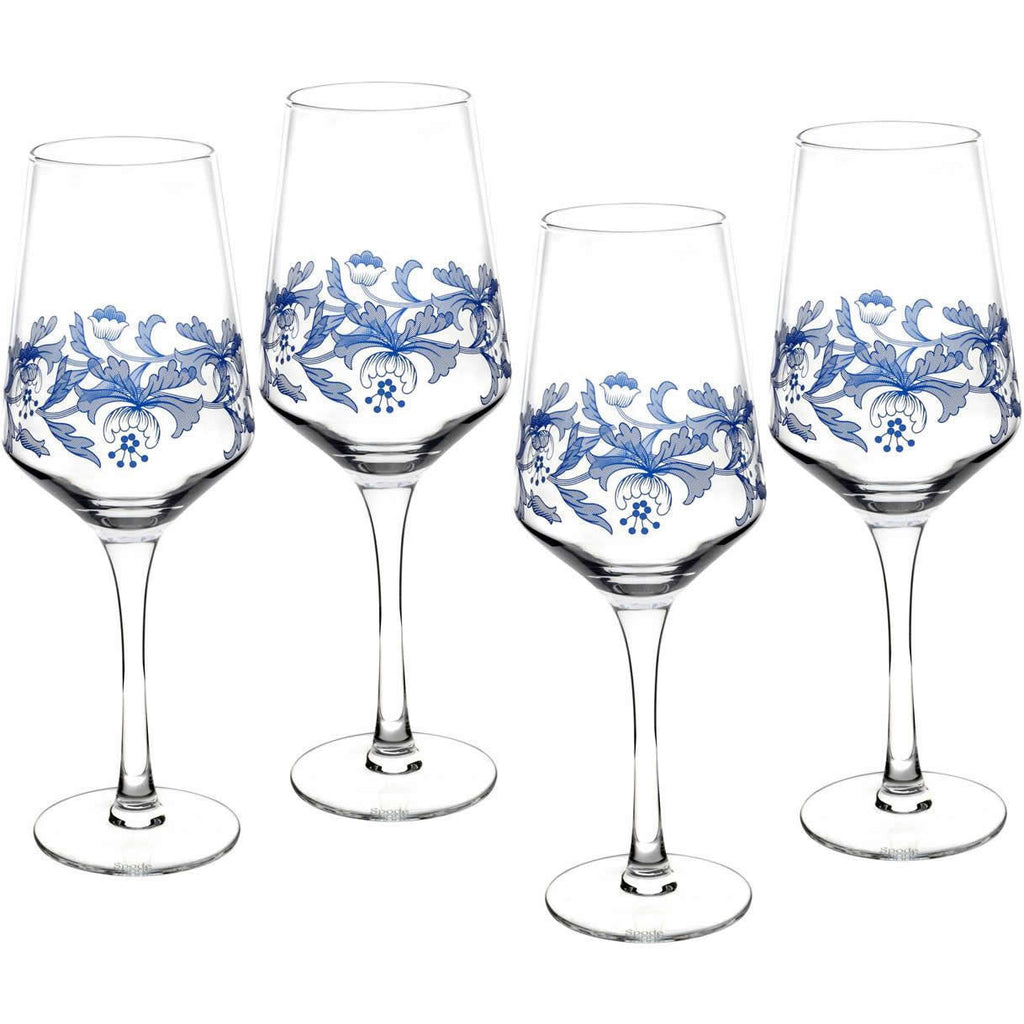 Spode Blue Italian Wine Glass 0.45L (Set of 4)