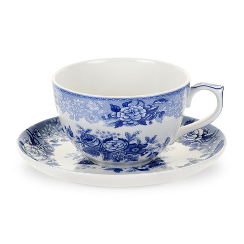 Spode Blue Room Blue Rose Jumbo Cup and Saucer 0.56L