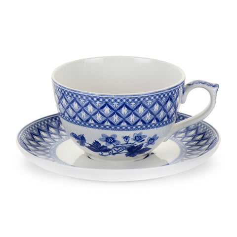 Spode Blue Room Geranium Jumbo Cup and Saucer 0.56L