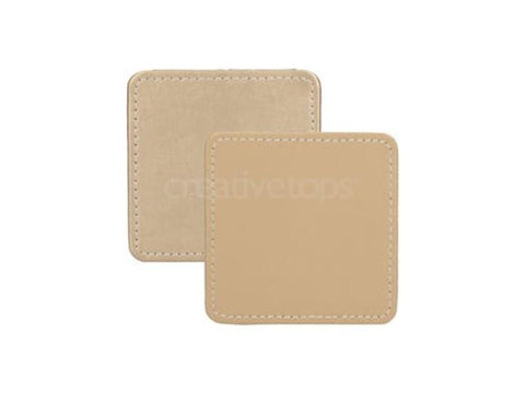 Creative Tops Premium Gold Faux Leather Coasters (Pack of 4)