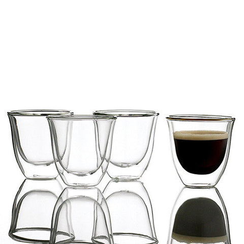Creativetops La Cafetiere Jack Glass Double Walled Espresso Glass 0.11 L (Set of 4)