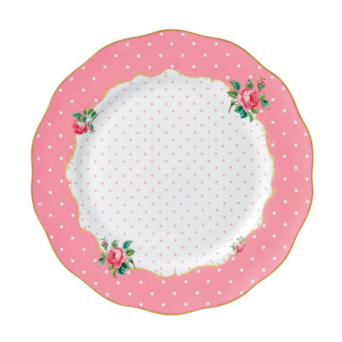Royal Albert Cheeky Pink Vintage Dinner Plate 27cm