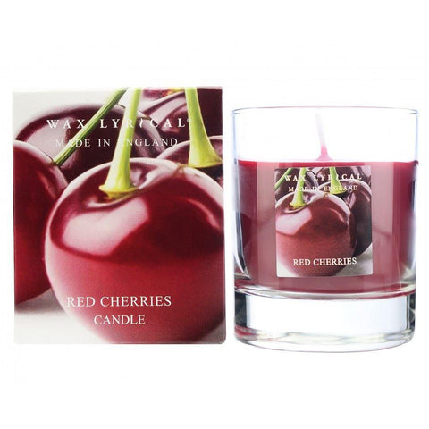 Wax Lyrical Red Cherries Candle Glass