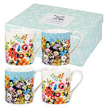 Churchill China Collier Campbell Flowerdrop Mug 0.25L (Set Of 4)
